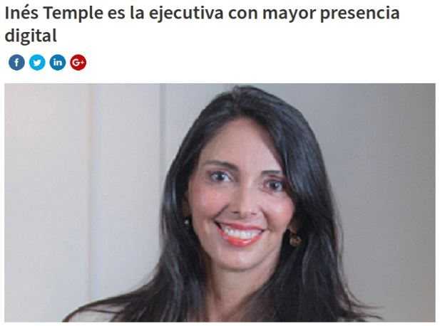 revistabusiness.com ines temple 30.11.18 - Inés Temple es la ejecutiva con mayor presencia digital
