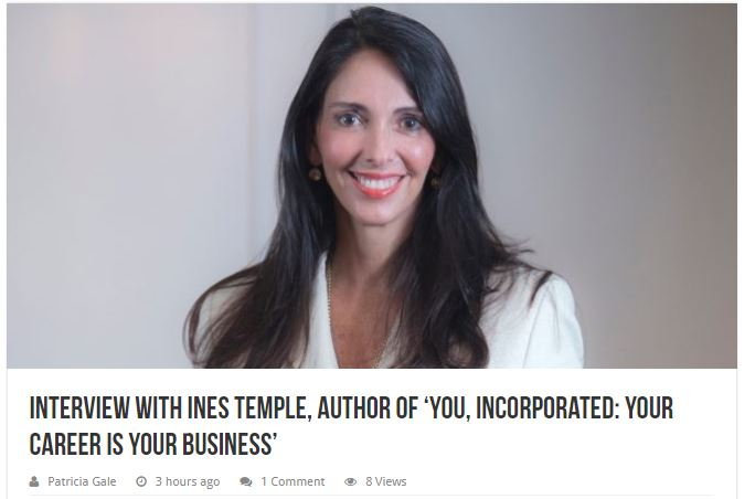 Blogcritics.com Ines Temple 20.12.18 - Interview with Ines Temple, author of 'You, Incorporated: Your Career Is Your Business'