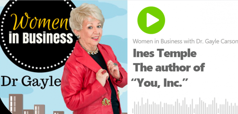Captura 768x369 - Women in Business with Dr. Gayle Carson - Entrevista con Ines Temple